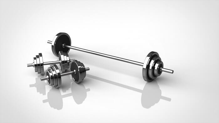 ダンベルやバーベルを使った 筋トレメニュー