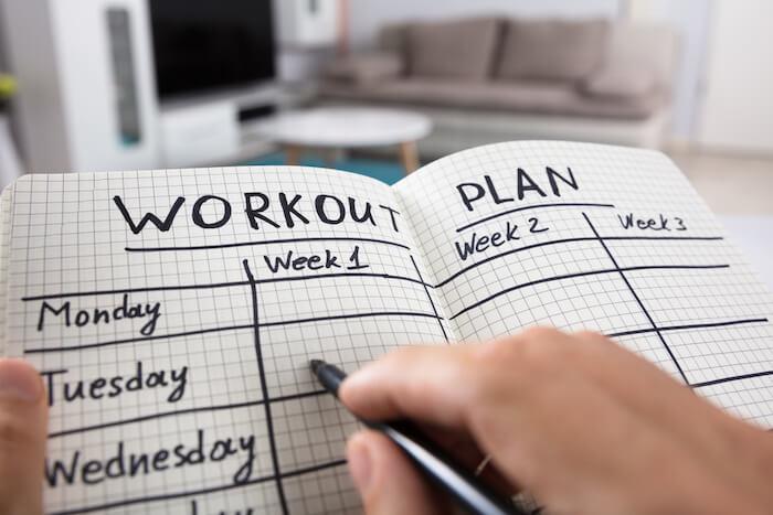 自重トレーニング 1週間計画