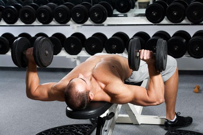 デクラインダンベルプレスで鍛えられる筋肉