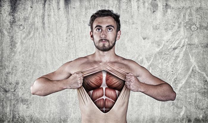 2.体幹に常に力をいれる